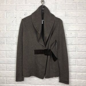 SOFT SURROUNDINGS Cardigan wrap sweater with belt